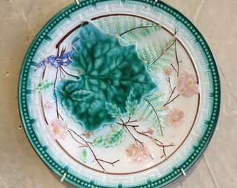 Majolica Plates,Set of Four, Aesthetic Movement, Ca: 1890.