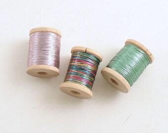 Vintage Metallic Thread France 3 Spools