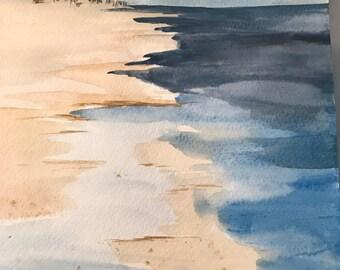 Summer's Walk      8 x 10     Original Matted Watercolor