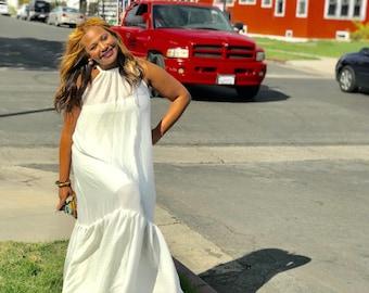 Mermaid Halter Maxi Dress