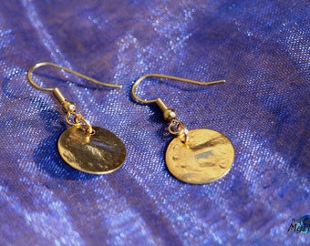Gold sequins earrings