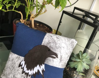 Handmade wizard house themed decorative cushion