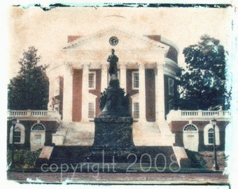 Polaroid transfer UVA Rotunda