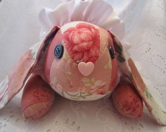 Shabby Bunny, Pink Patchwork