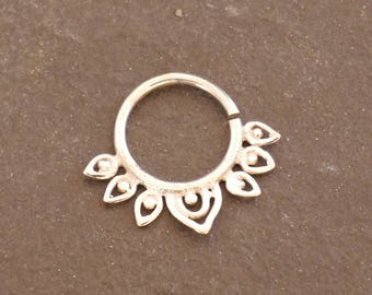 Septum silver ring