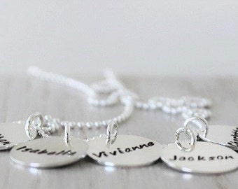 """5 kids names mothers necklace 