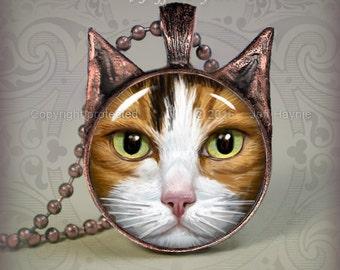 CA6 CALICO CAT pendant