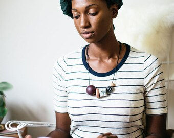Jaid - Large Wooden Bead Necklace