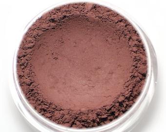 "Matte Eyeshadow - ""Tryst"" - Burgundy - all natural vegan mineral makeup"