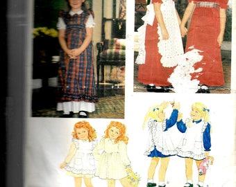 Vogue Children's Dress and Pinafore Pattern 2823