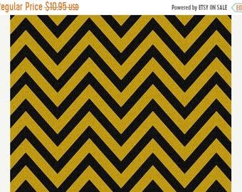 SALE yellow black chevron Fabric Premier Prints zigzag black corn yellow Home Decor by the Yard yardage material - 1 yard or more - SHIPS FA