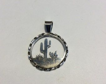 sterling silver Southwest  pendant