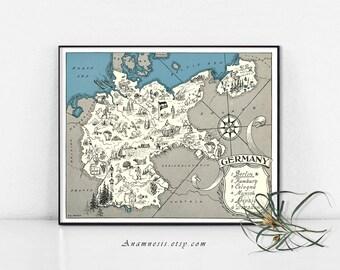 Carte imprimable imprimer carte - Image de téléchargement instantané - GERMAY de l'Allemagne pour l'encadrement, bijoux, emballages, vêtements, étiquettes, oreillers, pépinière, mariages