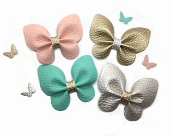 Faux Leather butterfly, Die Cut Butterfly, DIY leather Butterfly, Headband Supplies.
