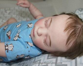 Newborn Reborn Baby Doll  Sleeping Logan prototype of real baby boy Reborn Babies Dolls,