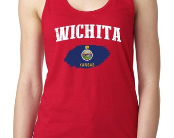 Wichita Kansas Women Tops Next Level Racerback Tank Top