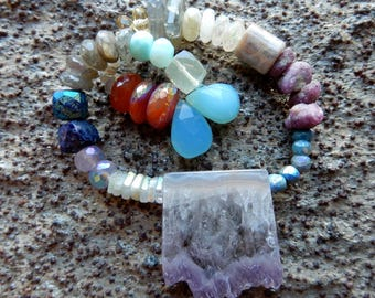 Mixed Lot Mystic Semiprecious Gemstones Select Sampler orphan bead strand