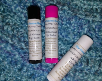 All natural lip balm pack of 3