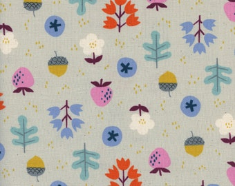 Forage in grey from the Welsummer fabric collection by Kim Kight for Cotton + Steel 3059-02