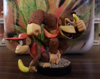 Custom Nintendo Donkey Kong Country Inspired Amiibo