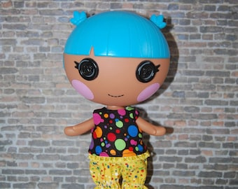 "Lalaloopsy Littles 7"" doll clothes -Splatter Top and Pants - tkct026"