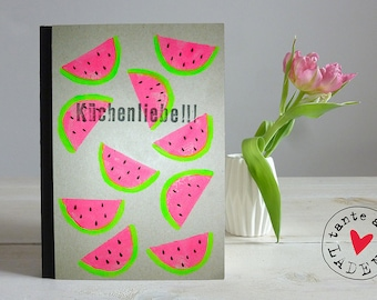 "Notebook ""melon..."", DIN A5"