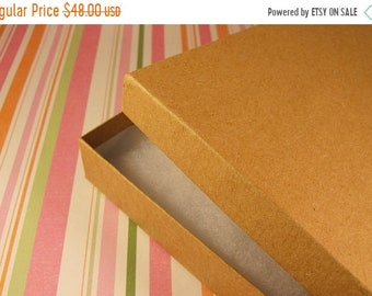 Mothers Day Sale 50 Pack Cotton Filled Kraft Brown Color Jewelry Gift and Retail Boxes 6.15 X 5.15 X 1 Inch Size