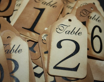 """Medium Table Number Tags Seat Placement Cards 2 1/2"""" x 1 3/8"""""""