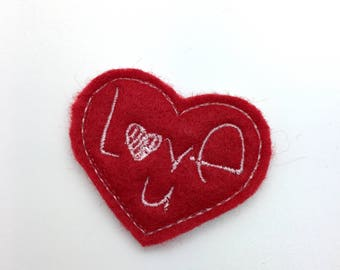 Valentines Hair Clip Felt Heart Hair Clip Toddler Hair Clip Girls Accessories Valentines Gift