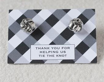 Thank You 'Tying The Knot' Cufflinks, Wedding Cufflinks, Best Man Gift (28F4)