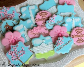 2 dozen, You choose theme! Going away, Moving away Customized cookie platter!