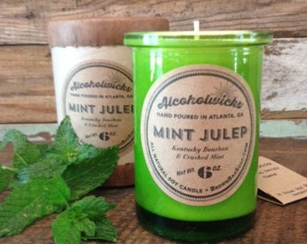 Mint Julep Candle by Alcoholwicks - Soy Candle