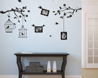 Wall sticker - Twig with photos (3410n)