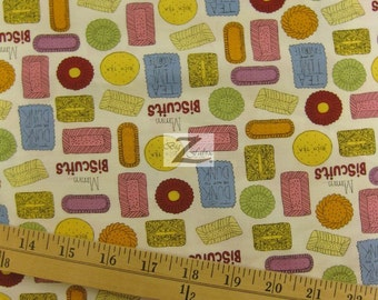 "Biscuits Metro Cafe By Robert Kaufman 100% Cotton Fabric - 45"" Width Sold By The Yard (FH-517)"