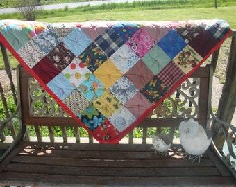 Handmade Scrappy Quilt