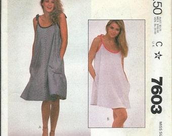McCall's 7603, Misses Flared Dress Pattern, 90 Minute Fashion, Size Medium UNCUT