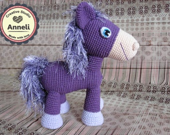 Amigurumi pony/ crochet pony/ pony toy/ crochet amigurumi pony/ pony/ amigurumi horse/  crochet horse/ horse toy/ crochet amigurumi horse