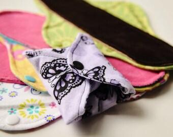"B3G1 Free 8"" Flannel Cloth Panty Liners - Mama Cloth"