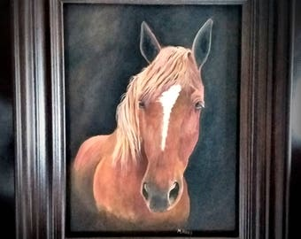 Pet Portraits on canvas board in acrylic