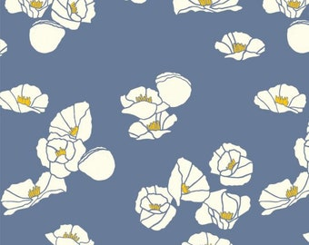 Cali Pop - Nightfall - Summer '62 - Jay Cyn for Birch Fabrics -  Organic Poplin Cotton Fabric - Pond - Fabric By the Half Yard