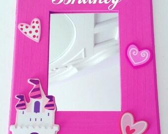 Mirror, Kids Mirror, Nursery Mirror, Children's Mirror, Girls Mirror, Nursery decor, Personalized Mirror, Picture Frame, Kids gift, Kids toy