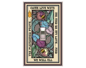 0517x - Come Live with Me - mrs butler switch plate covers -