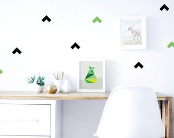 Boomerang Wall Decal, Removable, Eco Friendly Wall Decal, Bedroom, Black, Geometric, Kids Wall Sticker, Pattern. Boomerang Fabric Wall Decal