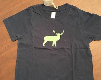 Elk Organic Cotton Toddler Tee Clothes Custom Screen Printed Tee Organic Tshirt