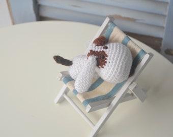 Amigurumi chien, les tout-petits ferme jouet animal, chiot bébé peluche. Softy fait à la main.