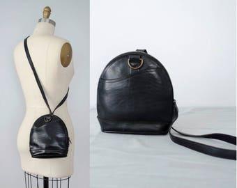 black leather purse / small black crossbody bag