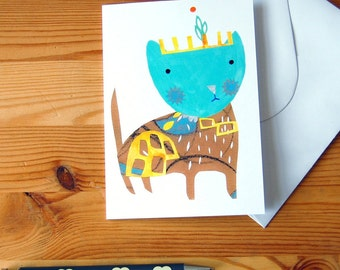 Cat Greeting Card - Digital Print - Anytime Card - Cat Lover Card