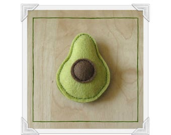Avocado Toy, 100% Wool Felt Cat Nip Teaser