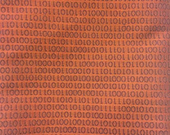 Binary Code - Tapestry Weight - Rust Color - End of Bolt