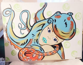 Octopus Girl Canvas
